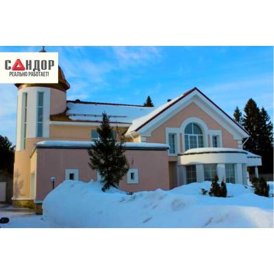 Коттедж №2- штукатурный фасад, г. Киров