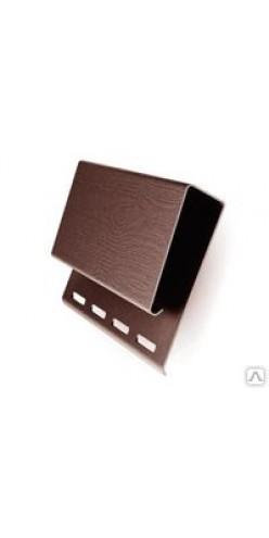 J-профиль GL широкий (наличник) коричневый 3,1м