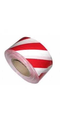Лента для ограждений 50ммх200м бело-красная неклейкая TDStels