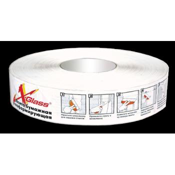 Лента бумажная углоформирующая X-Glass 50ммх153м (1/12шт)