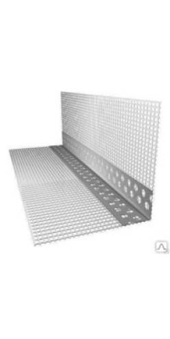Профиль угловой ПВХ с армирующей сеткой 10х15, 2,5 м Россия (Л)