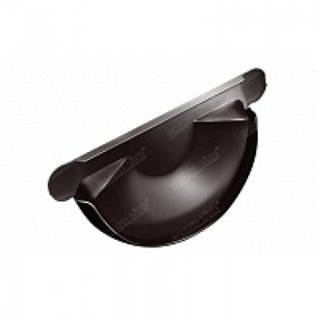 Заглушка желоба Grand Line D125/90 RAL 8017(шоколад)