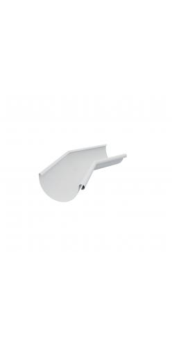 Угол желоба внутренний 135 градусов D125/90 Grand Line RAL9003 (белый)