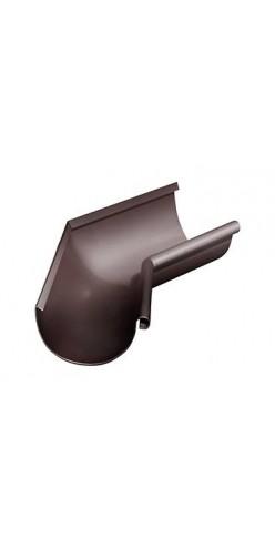 Угол желоба внутренний 135 градусов D125/90 Grand Line RAL8017 (шоколад)