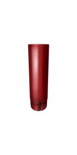 Круглая труба соединительная Grand Line D125/90 1м RAL 3005 (красное вино)