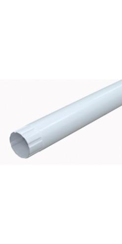 Круглая труба соединительная Grand Line D125/90 1м RAL 9003 (белый)
