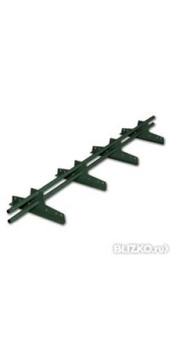 Снегозадержатель трубчатый BORGE ЭКОНОМ 32 мм окрашенный 3м RAL 6005 (зеленый мох)
