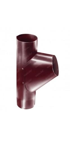 Тройник трубы Grand Line D125/90 RAL3005 (красное вино)