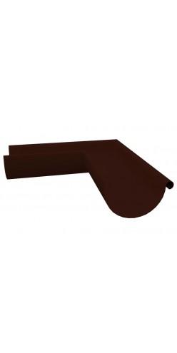 Угол желоба внешний 90 градусов Grand Line D125/90 RAL8017 (шоколад)