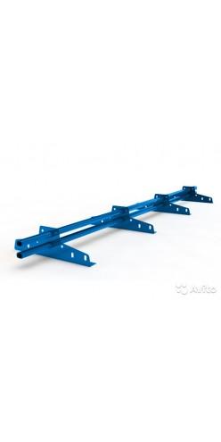 Снегозадержатель трубчатый BORGE ЭКОНОМ 32 мм окрашенный 3м RAL 5005 (синий)