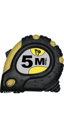 Рулетка 5мх19мм (обрезиненый корпус,3фиксатора,магнит)