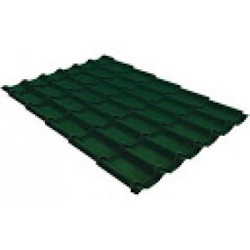 Металлочерепица Монтеррей шир.1100/1180 0,45мм RAL6005 зеленый мох