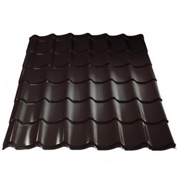 Металлочерепица Монтеррей шир.1100/1180 0,45мм RAL8017 шоколад