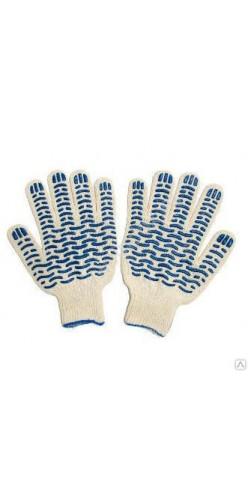 Перчатки хлопчатобумажные с ПВХ Волна