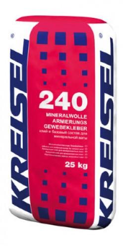 240 Winter MINIRALWOLLE- ARMIERUNGS-GEWEBEKLEBER серый 25кг 42 ед АА